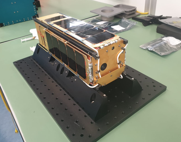 PICASSO CubeSat just before its integration in the Picosatellite Orbital Deployer.