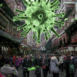 Illustration coronavirus pandemic China